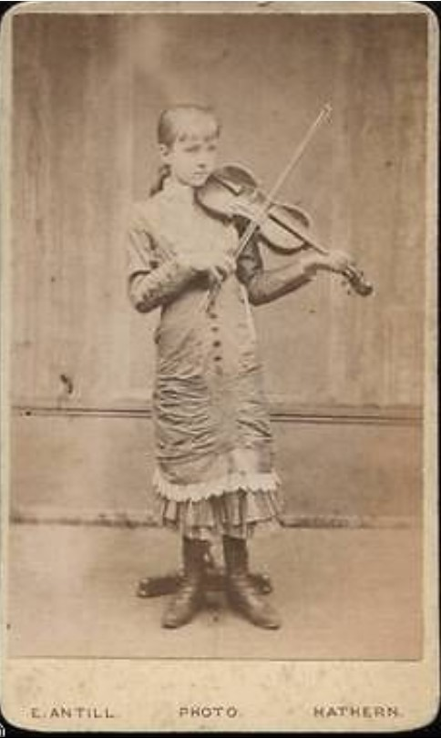antill girl with violin